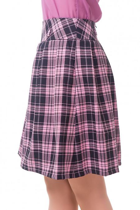 Купить юбку пышную в розовую клетку Деловая женская одежда