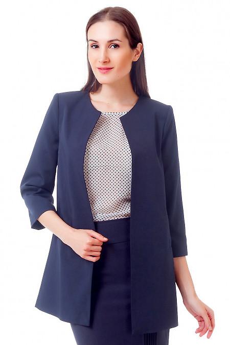 Жакет-кардиган темно-синий Деловая женская одежда