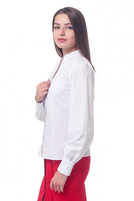 Купить белую блузку со стойкой Деловая женская одежда