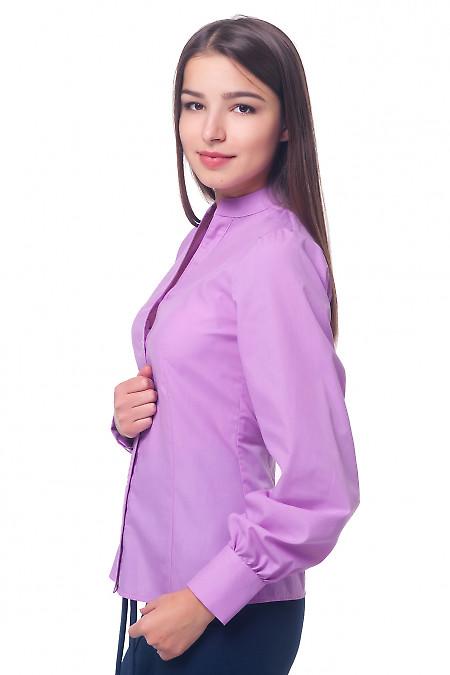 Купить блузка сиреневая со стойкой Деловая женская одежда
