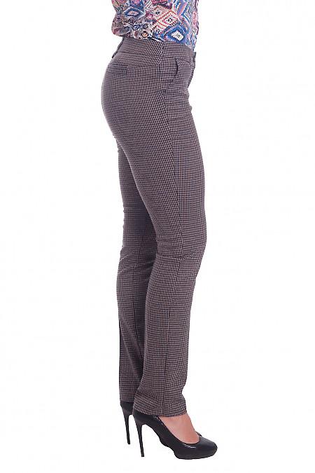 Купить брюки зауженные теплые в полоску. Деловая женская одежда