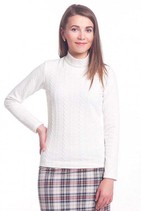 Джемпер белый со стойкой Деловая женская одежда