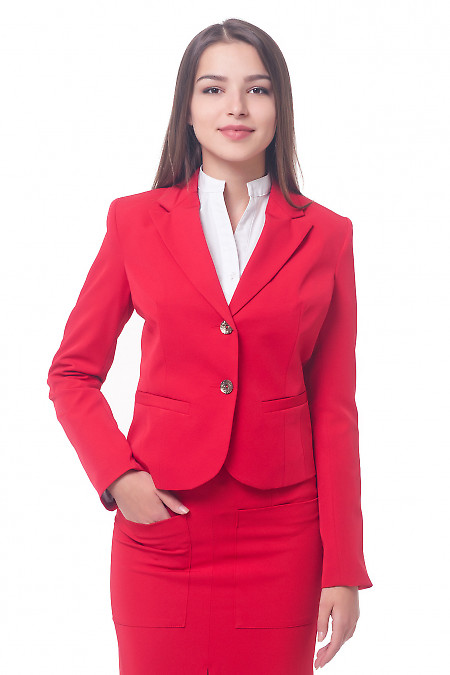 Красный классический женский жакет Деловая женская одежда