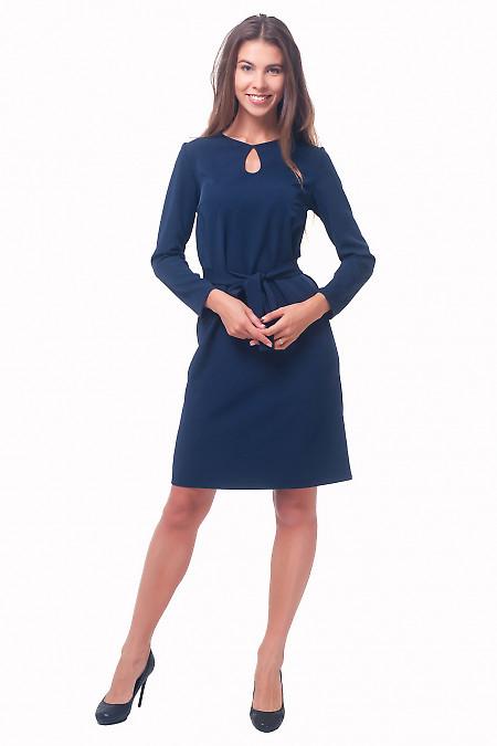 Купить платье темно-синее с капелькой Деловая женская одежда