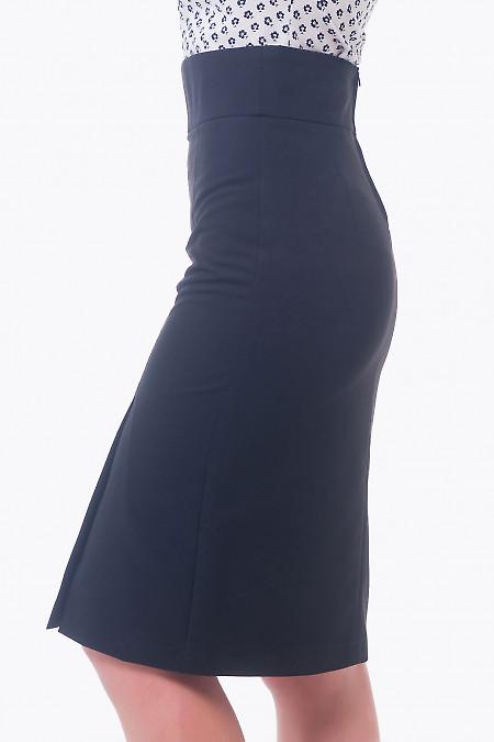 Купить черную юбку с разрезом впереди Деловая женская одежда
