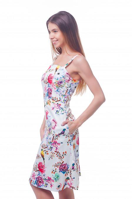 Купить белый сарафан на тонких бретелях Деловая женская одежда фото