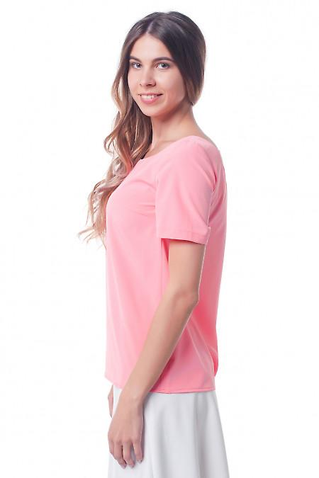 Купить блузку коралловую с вырезом на спине Деловая женская одежда фото