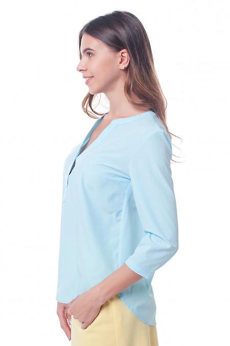 Купить светло-голубую блузку Деловая женская одежда фото