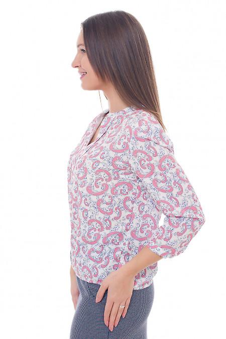 Купить блузку в коралловый узор Деловая женская одежда фото