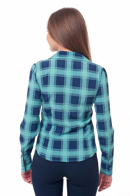 Купить блузку в крупную клетку Деловая женская одежда фото