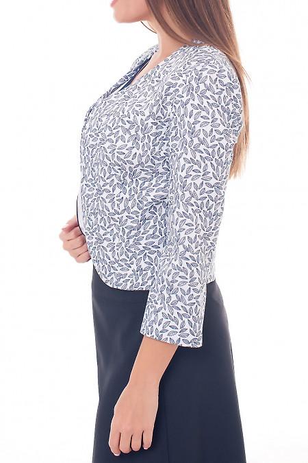 Купить болеро белое в серый листок Деловая женская одежда фото