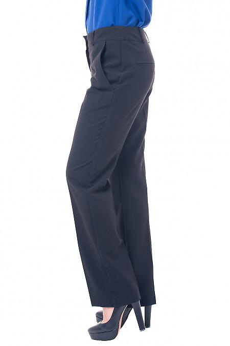Купить брюки черные, прямые от бедра Деловая женская одежда фото