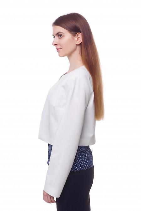 Купить кардиган белый короткий Деловая женская одежда фото