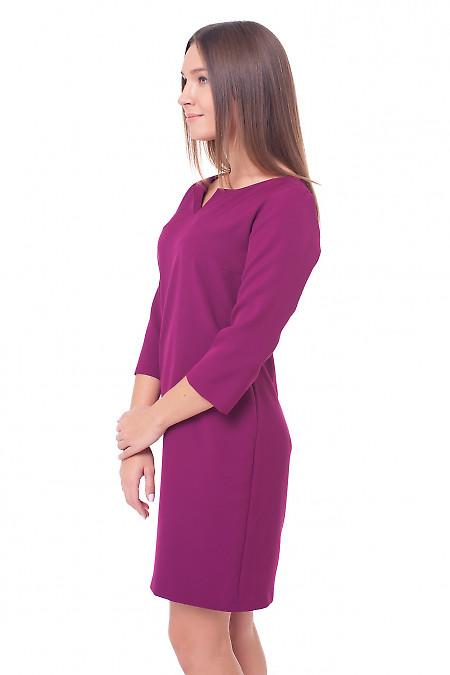 Купить платье-трапецию цвета фуксия Деловая женская одежда фото