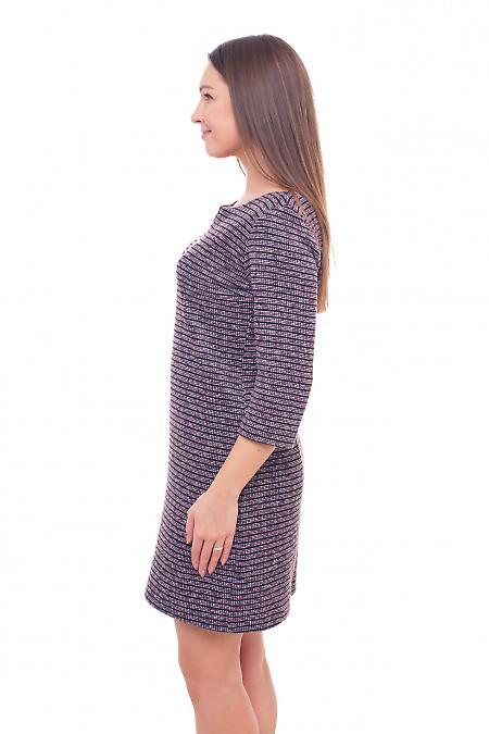 Купить платье теплое в сиреневую полоску Деловая женская одежда фото