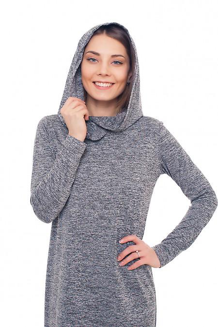 Трикотажное платье с капюшоном Деловая женская одежда фото
