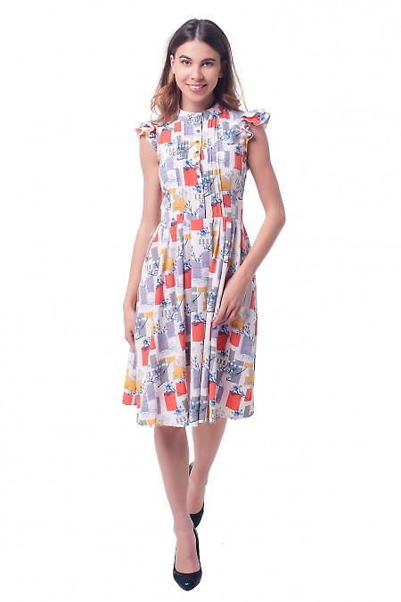 Купить платье в разноцветные квадратики Деловая женская одежда фото