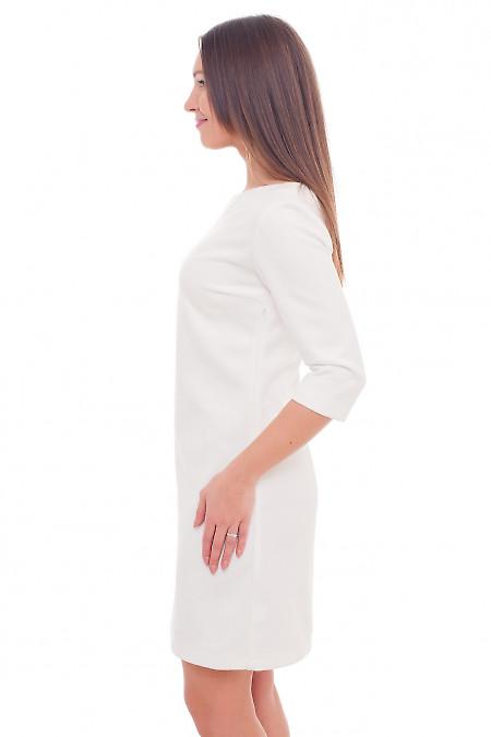 Купить теплое белое платье Деловая женская одежда фото