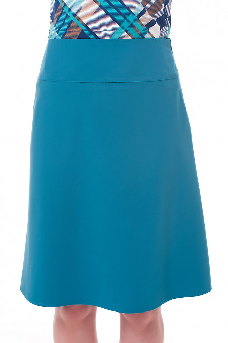 Юбка-трапеция зеленого цвета Деловая женская одежда фото