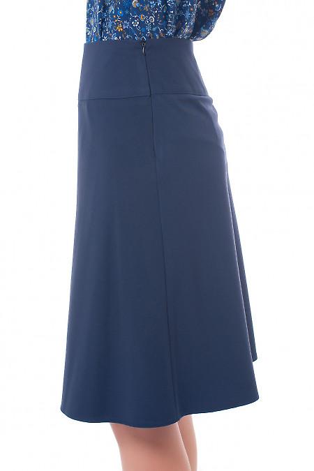 Купить юбку синюю на кокетке Деловая женская одежда фото