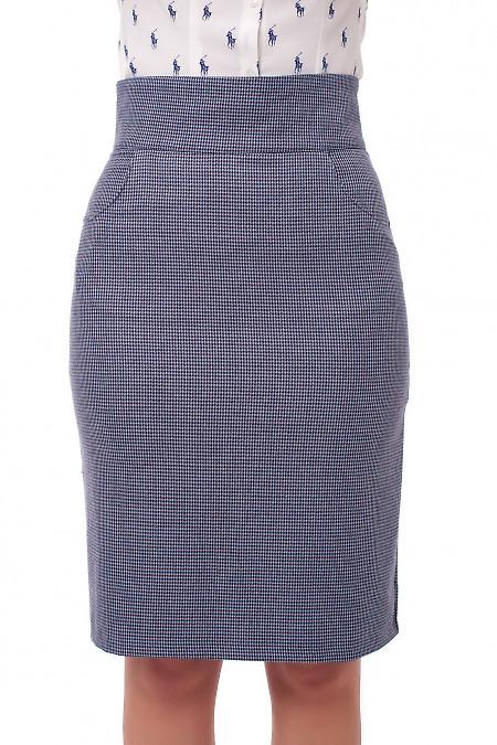 Юбка в бордовые лапки Деловая женская одежда фото