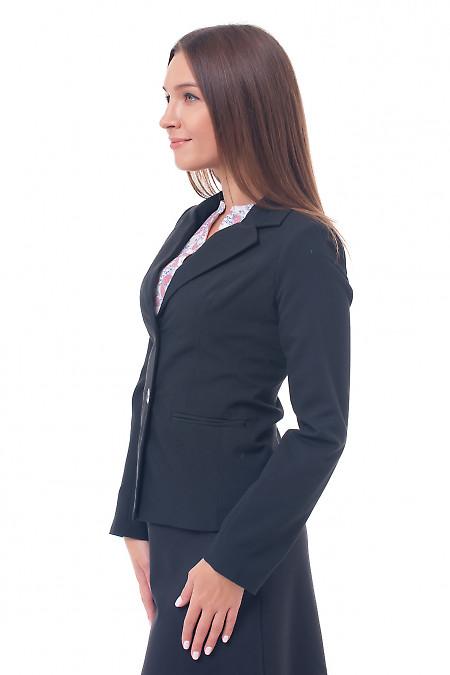 Купить жакет черный на двух пуговицах Деловая женская одежда фото
