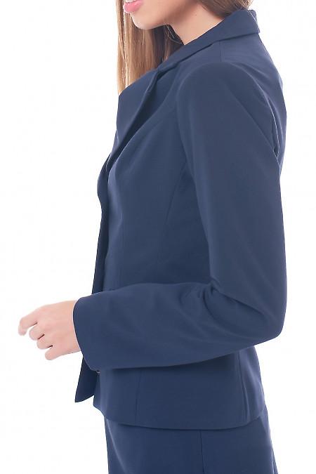 Купить жакет синий на двух пуговицах Деловая женская одежда фото