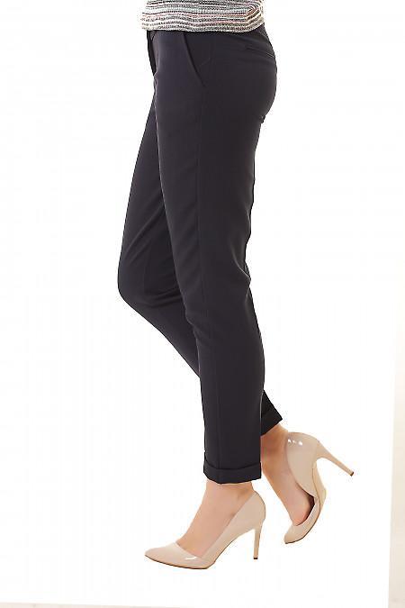Купить синие утепленные брюки Деловая женская одежда фото