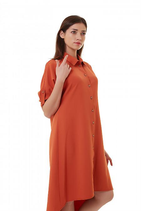 Купить платье-сафари рыжее Деловая женская одежда фото