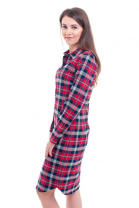 Купить стильное платье в клетку Деловая женская одежда фото