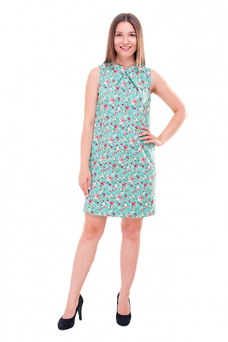 Купить платье льняное с одним защипом на груди Деловая женская одежда фото