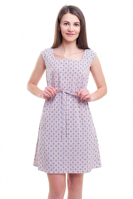 Платье розовое с кулисой под грудью Деловая женская одежда фото