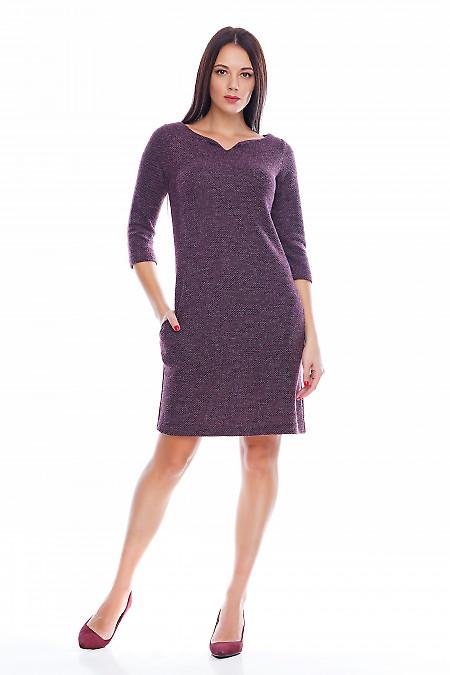 Платье шерстяное бордовое Деловая женская одежда фото