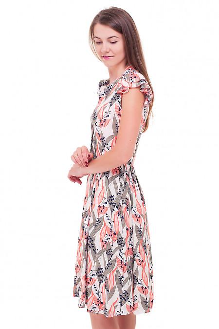 Купить платье штапельное в ландыши Деловая женская одежда фото