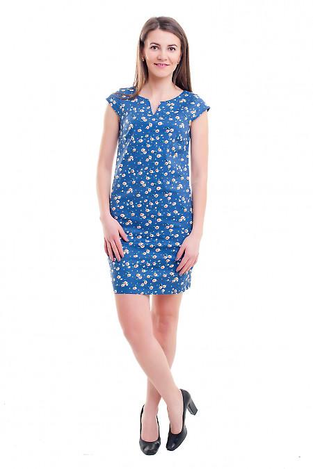 Купить сарафан синий в белую ромашку Деловая женская одежда фото