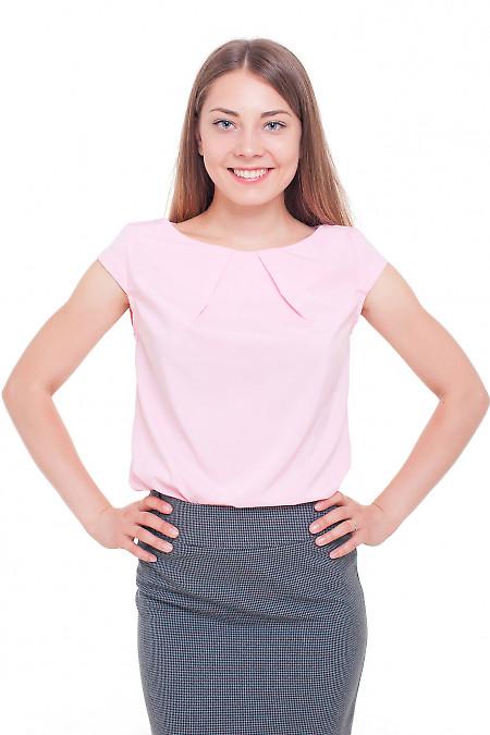 Топ с коротким рукавом розовый Деловая женская одежда фото