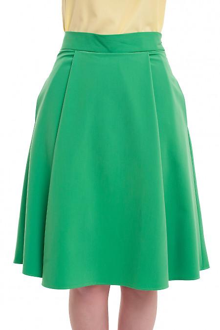 Юбка пышная зеленая Деловая женская одежда фото