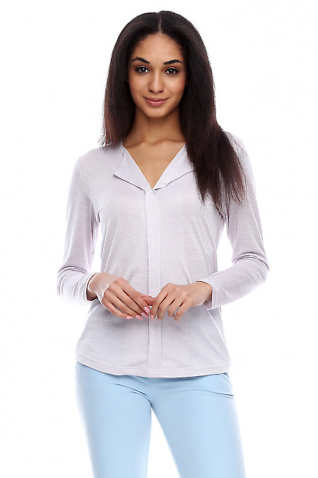 Блузка с люрексом Деловая женская одежда фото
