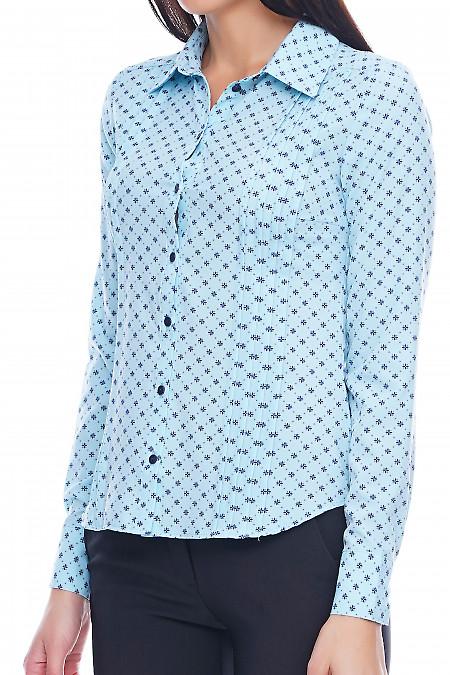 Блузка в цветочек Деловая женская одежда фото