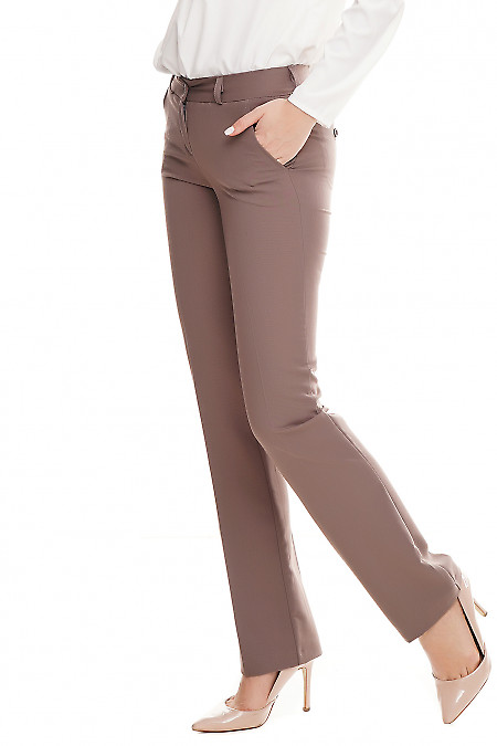 Купить брюки классические женские сиреневые Деловая женская одежда фото