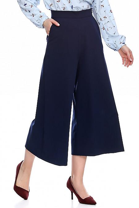 Купить брюки кюлоты синие. Деловая женская одежда фото