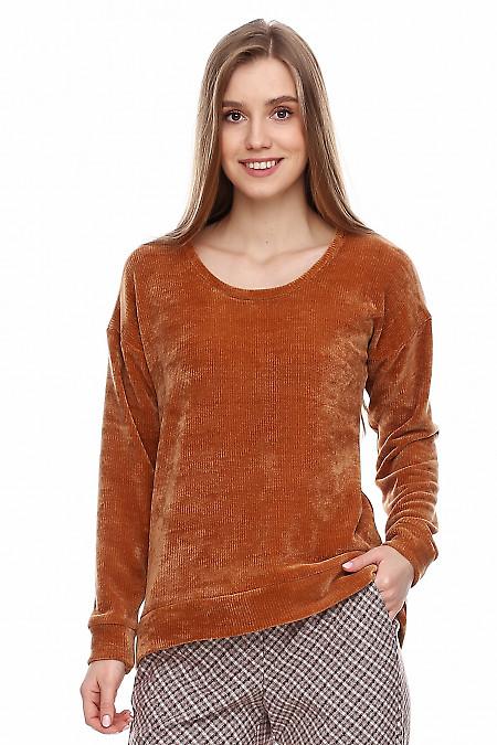 Купить тунику из вельвета. Деловая женская одежда фото