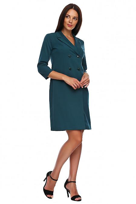 Купить платье-жакет зеленое. Деловая женская одежда фото