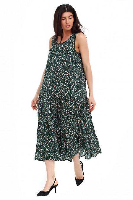 Купить длинное зеленое платье Деловая женская одежда фото