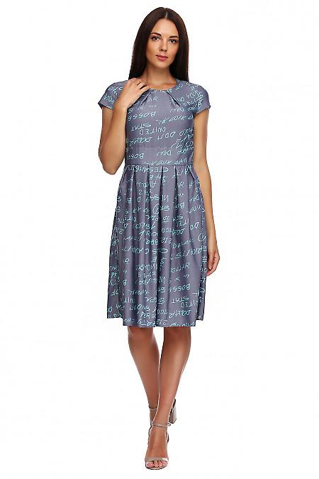 048cac6ee Платье джинсовое с защипами. Деловая женская одежда фото Купить ...