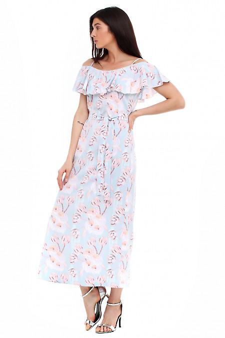 Купить платье с воланом Деловая женская одежда фото
