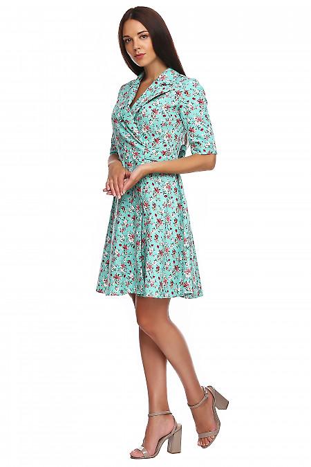 Купить льняное платье на запах. Деловая женская одежда фото