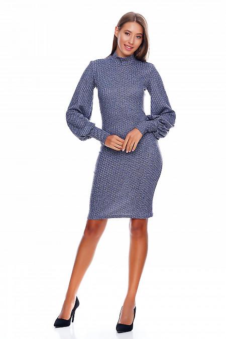 Платье прямое блестящее Деловая женская одежда фото
