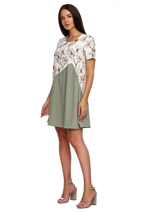 Купить платье серое в лилии. Деловая женская одежда фото