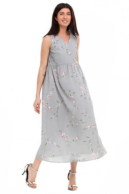 Купить платье летнее серое Деловая женская одежда фото